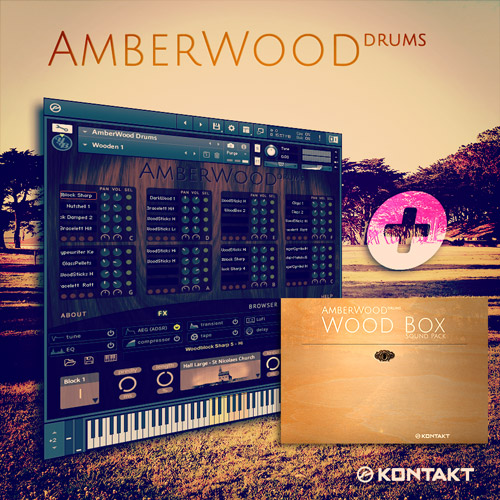 AmberWood Drums + Wood Box Bundle