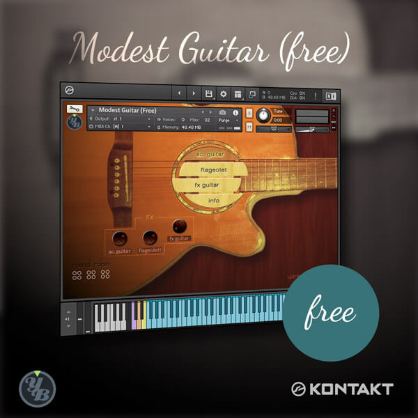 Modest Guitar Free for Kontakt 5 - Acoustic Guitar